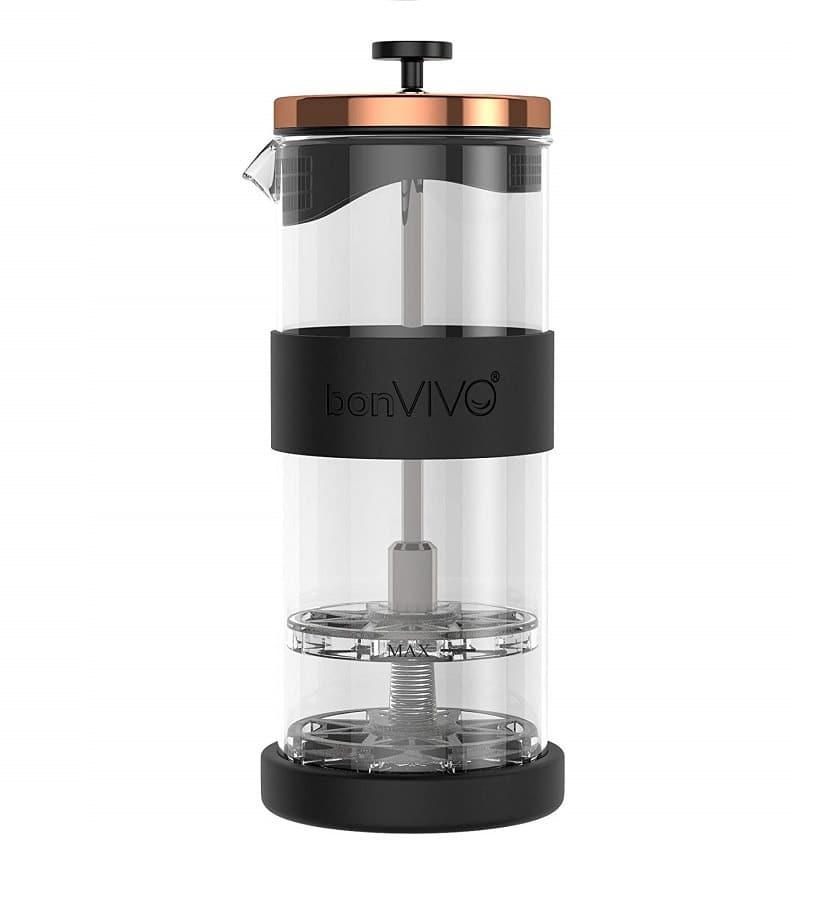 Montalatte per Espresso Schiuma Maker a Due Piani Acciaio Inox Utile
