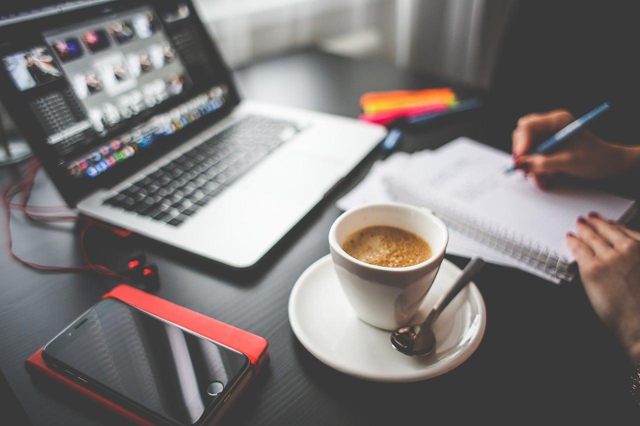caffè al lavoro