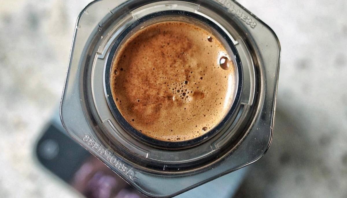 espresso preparato con aeropress