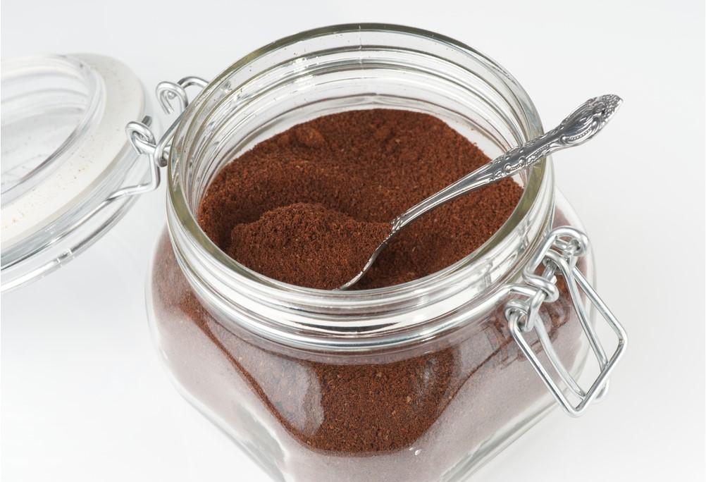 caffè in barattolo trasparente
